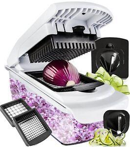 Vegetable Chopper Spiralizer Vegetable Slicer Dicer Onion Food Cutter 4 Blades