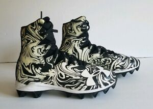 Under-Armour-Highlight-NEW-1289779-011-Football-Cleats-Black-White-Youth-Size-3