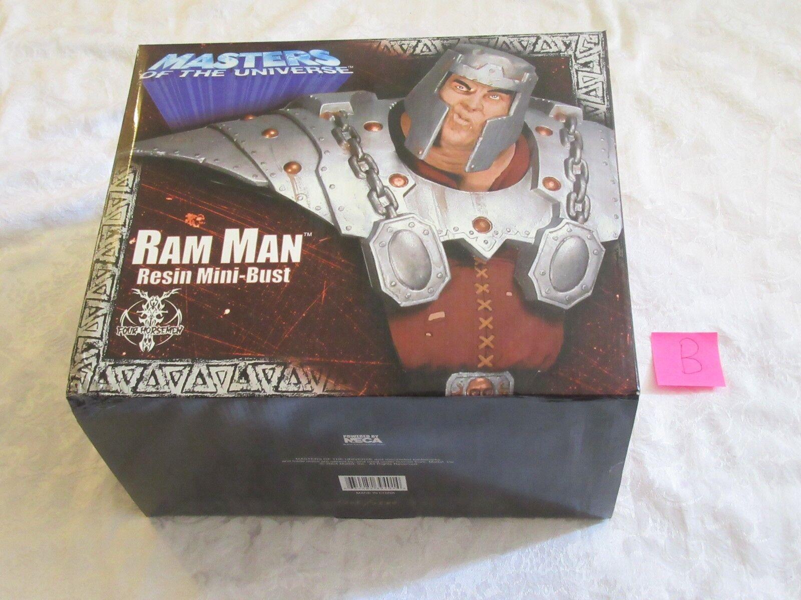 Neca Masters of the Universe MOTU Ram Man Resin Mini Bust Statue B  1705/2500