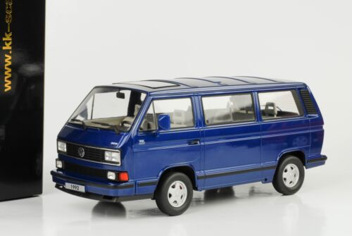 VOLKSWAGEN 1992 bus VW t3 Multivan Last Edition Blu Metallizzato 1:18 KK Diecast