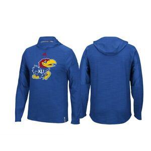 huge selection of 1de39 82600 Image is loading Kansas-Jayhawks-NCAA-Adidas-Blue-Climalite-Sideline -Training-