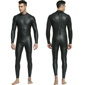 Mens-3mm-CR-Triathlon-wetsuit-Ultra-Elastic-Leather-Smooth-skin-wetsuits-Full-We