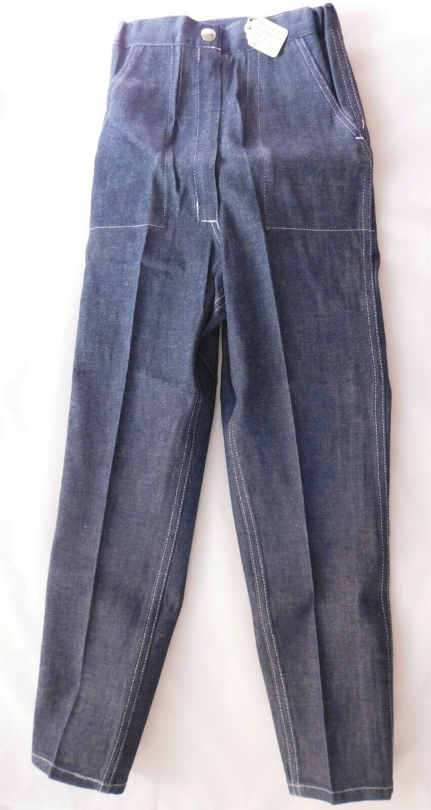 Vintage girls blue jeans 1960s UNUSED Age 10 years childrens trousers Ladybird