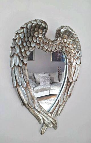 Argent Antique Ange Ailes Miroir Shabby Chic Cœur Chambre à Coucher Couloir Salle De Bains 365