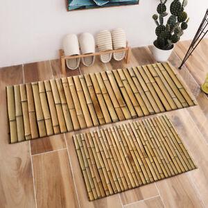 Details About Home Decor Area Rug Kitchen Floor Mat Bedroom Carpet Bathmat Modern Bamboo Print