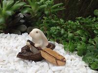 Miniature Dollhouse Fairy Garden Bunny Rabbit Rowing A Boat
