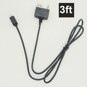 buy popular 6b5b4 df6de Details about 3ft AUX USB Cable 8-Pin Lighting Charge Cable iPhone 7 7Plus  for HYUNDAI KIA