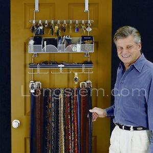 Men's Organizer Valet #9100 Longstem Hanging Closest Tie Belt Rack Rated Best