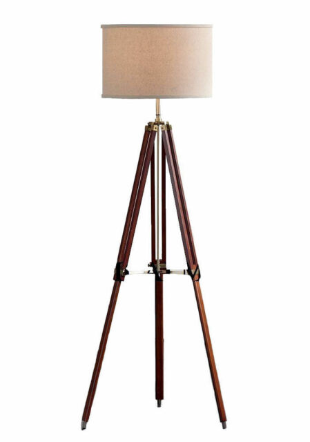 Wood Surveyor Tripod Floor Lamp