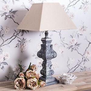 Grey ornate table lamp shabby vintage chic lighting bedroom light image is loading grey ornate table lamp shabby vintage chic lighting aloadofball Choice Image