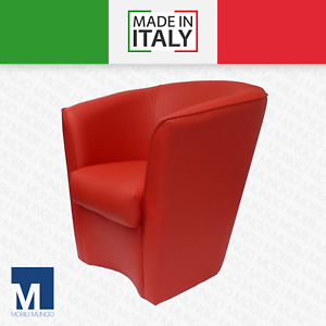 Dettagli su POLTRONA A POZZETTO in ecopelle sedia poltroncina ufficio divano MADE IN ITALY