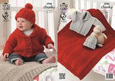 21e083df7 King Cole Baby Hat Poncho BOOTIES   Blanket Comfort Chunky Knitting ...