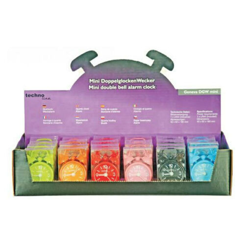 Batterie verschiedene Farben Technotrade DGW Mini Reisewecker Miniwecker inkl