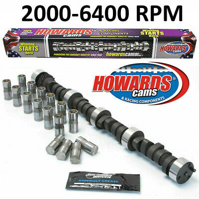 """HOWARD/'S 1800-6200 RPM Chevy SBC 285//295 470/""""//470/"""" 110° Cam Kit with Timing Set"""