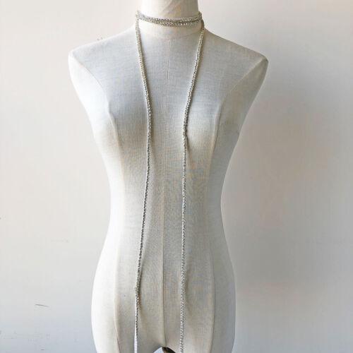 Vestido de boda Apliques De Cinta Con Cuentas Cadena Diamante nupcial Ribete de diamante de imitación de bricolaje