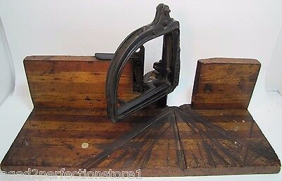 Antique Perfection Miter Box Cast Iron Wood made in USA old woodworkers tool