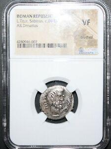 Ancient-Roman-Coin-Republic-L-Titur-Sabinus-c89-BC-AR-Denarius-NGC-VF-LOOK