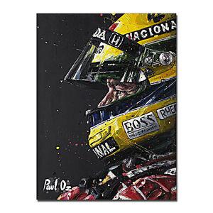 Ayrton Senna Poster F1 Formula Grand Prix Print Art Silk Poster