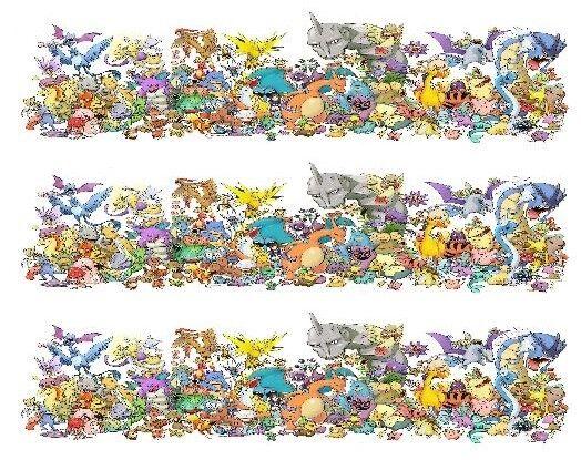 Pokemon edible cake strip wrap arounds