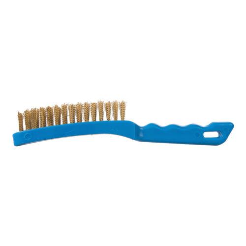 Silverline 763578 Heavy Duty 4 Row Brassed Steel Wire Brush 280mm