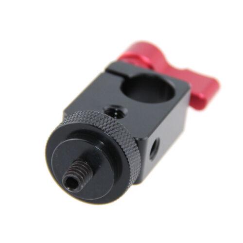 """Abrazadera De Varilla 15mm camvate 1//4/"""" Tornillo Adaptador para DSLR de montaje Monitor Plataforma de micrófono"""