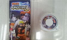 Naruto Shippuden Ultimate Ninja Heroes 3 Sony PSP Disc Only with Manual