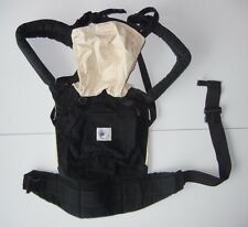 ERGO BABY Black/Tan BABY CARRIER BAG Pouch Backpack Holder Infant New Born NICE!