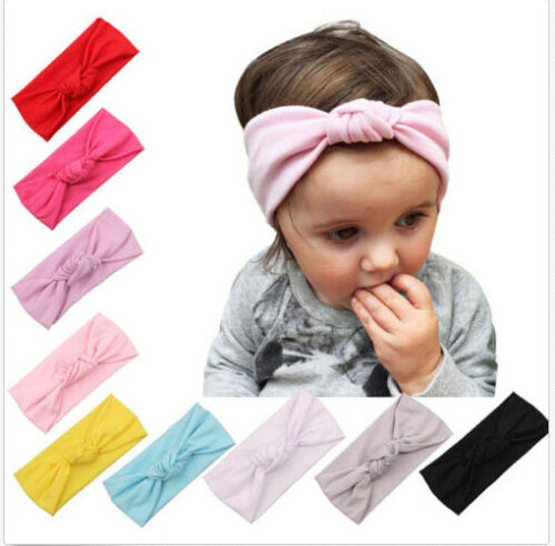 Baby Toddler Kids Girls Bow Hairband Turban Knot Cotton Cute Headband Headwea sp