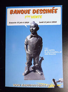 Carte postale Tintin Banque dessinée