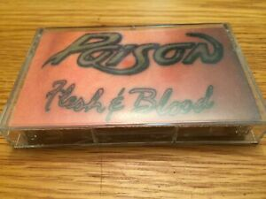 Poison Flesh and Blood Cassette Tape 80s hard rock classic hair band
