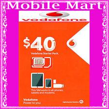 Vodafone◉$40 Credit Prepaid SIM CARD◉Unlimited Calls & Text◉5GB Data◉BULK BUY◉