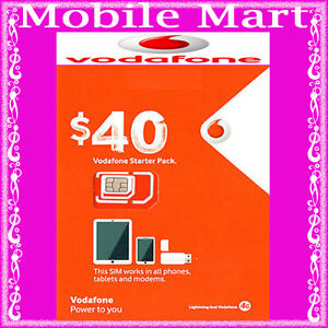Details about Vodafone◉$40 Credit Prepaid SIM CARD◉Unlimited Calls &  Text◉18GB Data◉BULK BUY◉