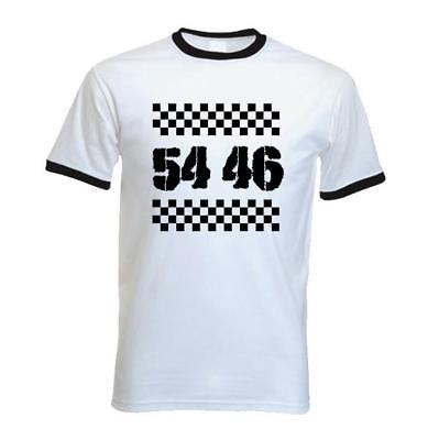 Mod Ska Various Sizes//Colours Reggae 54-46 Was My Number Ringer T-Shirt