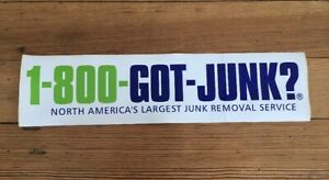 Details about Bumper Sticker 1-800-GOT-JUNK? America's Removal Service  Decal 14 1/2