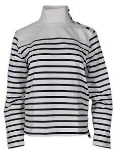 e8842f0cb507c New J. Crew Women's G8328 Striped Button Shoulder Turtleneck Sweater ...