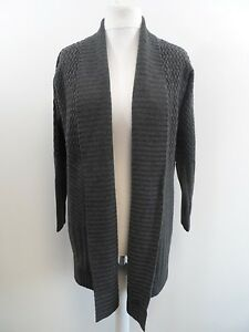 Pure-Collection-Mixed-Texture-Knitted-Wool-Coat-Ladies-Size-Small-Box4267-H