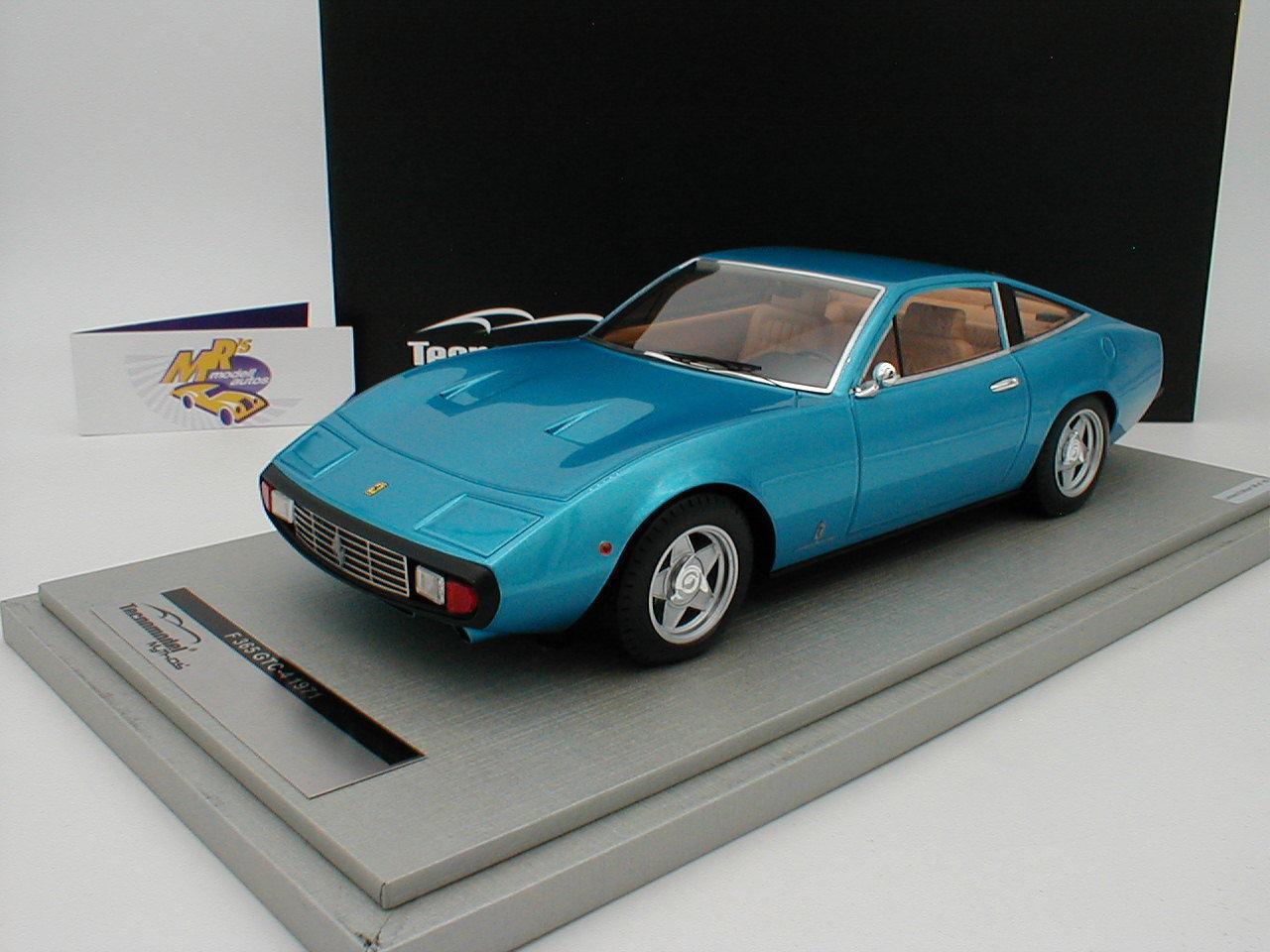Tecnomodel tm18-92c - ferrari 365 gtc 4 año 1971  metalizado azul  1 18 nuevo