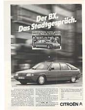 Historische Reklame - vintage adverts- CITROEN BX - alte Annoncen - Konvolut  -