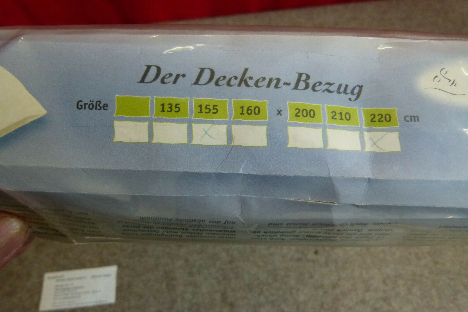 Deckenbezug 155 x 220cm  allmedia gegen Hausstaubmilben Bezug Bezug Bezug 100% KbA BW aa94e1