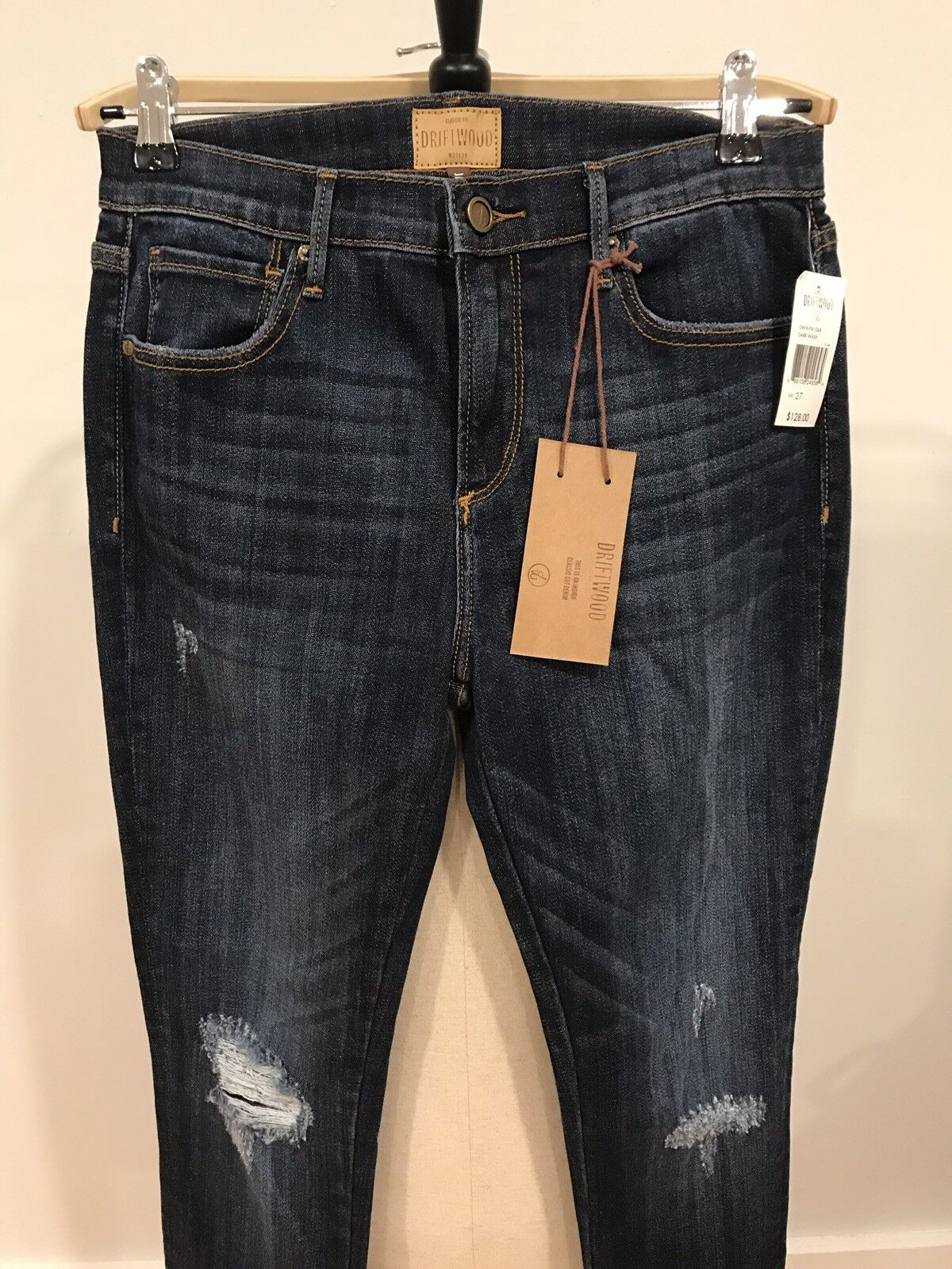 NWT Driftwood Womens Embroidered pinks Denim Jeans Size 27 New