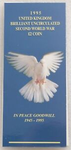 1995-Royal-Mint-Dove-of-Peace-End-of-WWII-50th-Anniversary-BU-2-Two-Pound-Coin