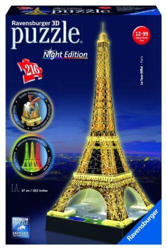 Ravensburger 3D-Puzzle Night Edition Eiffelturm - NEU OVP