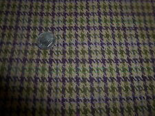 """Wool Blend Fabric Plum Olive Houndstooth Check on Warm Taupe 1 YD 12"""" x 62"""""""