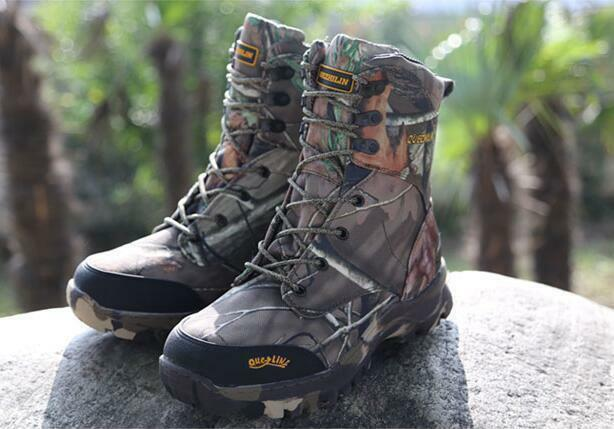 Mens New Tactical Waterproof Hunting Boots Camouflage Shoes Climbing Hiking size