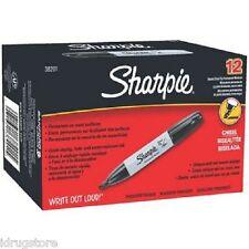 Sharpie, Permanent Marker, Chisel Tip, Black, 12-Count