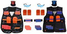 2-Pack Tactical Vest Kit for Nerf Guns Clips, 80 Soft Darts, Masks, Wristbands