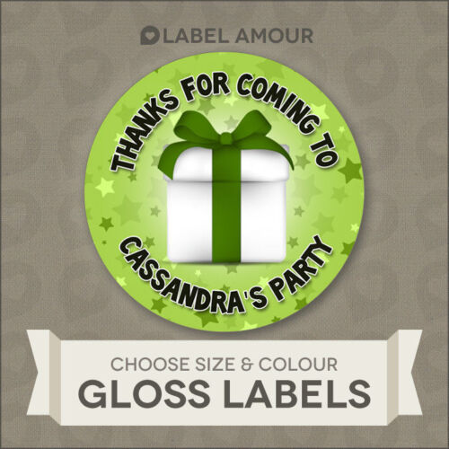 Personalised Birthday Stickers LabelsThanks for coming to my party