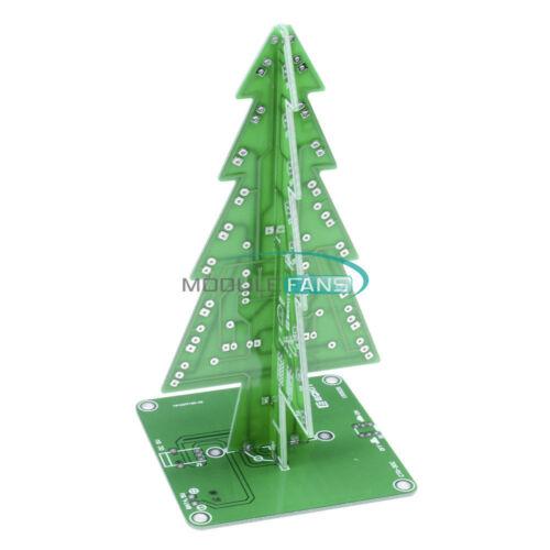 DIY 3D Christmas Kit Flashing Light LED Circuit 3//7 Colors Xmas Tree Gift M