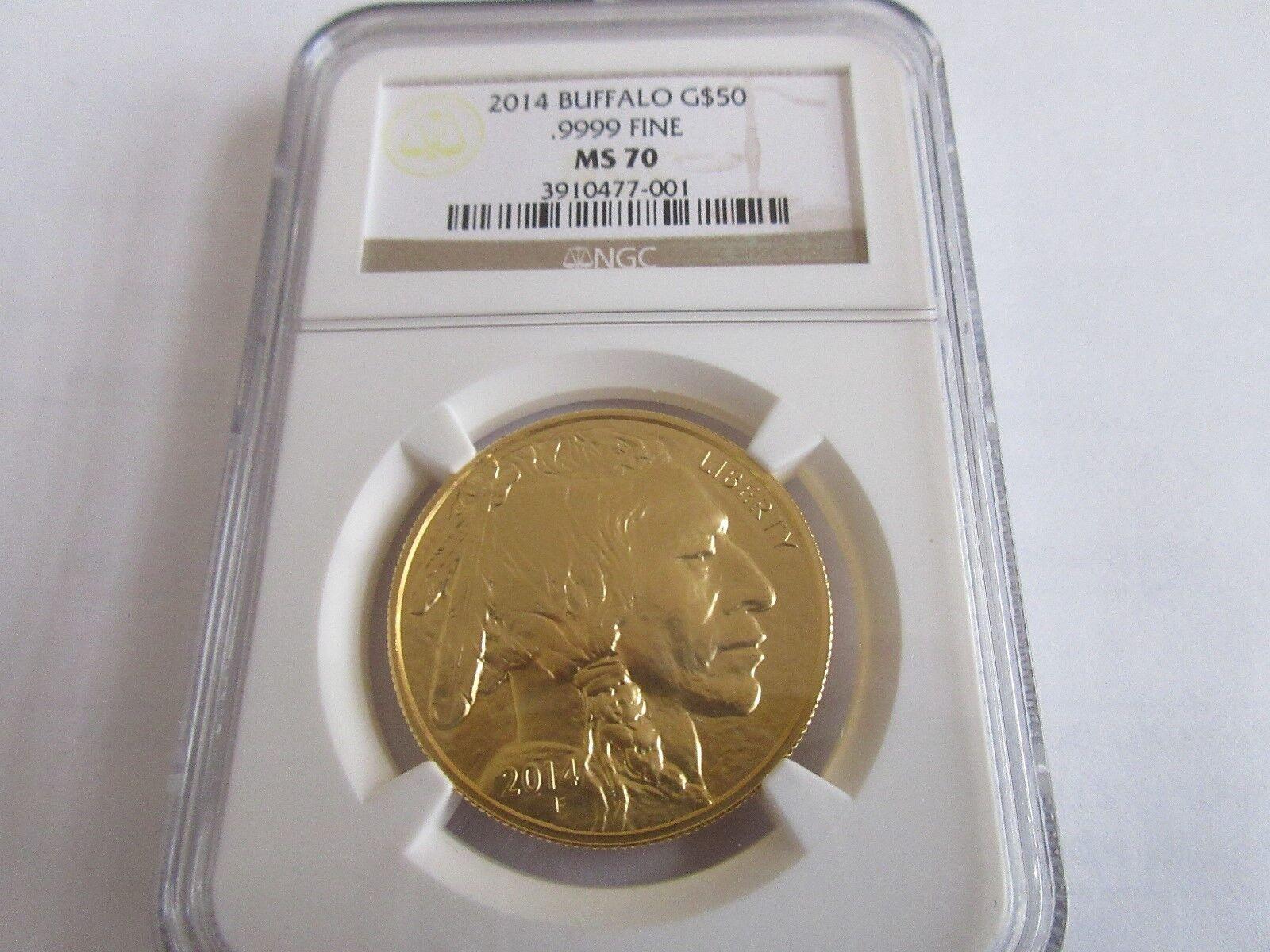 2014 American Gold Buffalo , $50 , NGC , MS 70 , 1 oz.