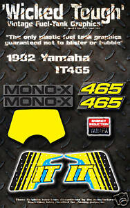 YAMAHA 1982 YZ80 WICKED TOUGH DECAL GRAPHIC KIT